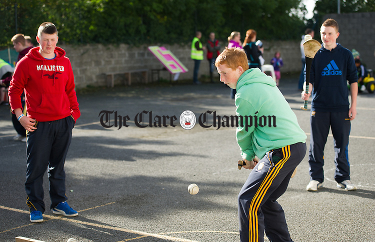 Killian Nugent in action at the ball wall at the Clare Shout Festival Field day in Kilkishen. Photograph by John Kelly.