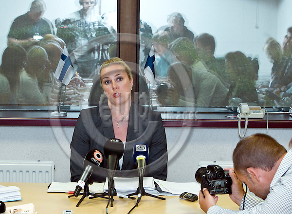 BRUSSELS  -  BELGIUM  - 12 JULY 2011 --  Jutta URPILAINEN Finance Minister of Finland during her press conference after the ECOFIN EU-Council meeting. --  PHOTO: Juha ROININEN /  EUP-IMAGES.20110712 HSTA