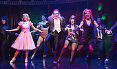 London, UK. 15 September 2015. Cast performing the Time Warp. The Rocky Horror Show, written and starring Richard O'Brien, returns to the West End for a limited run at the Playhouse theatre from 11 September 2015. The Rocky Horror Show Gala Performance on 17 September will be broadcast live to cinemas across the UK and Europe. With Richard O'Brien as Narrator, David Bedella as Frank'n'furter, Ben Forster as Brad, Haley Flaherty as Janet and Dominic Andersen as Rocky. Photo: Bettina Strenske