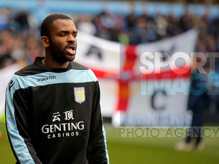 Darren Bent once again starting on the substitutes bench for Aston Villa  - Aston Villa vs Fulham - Barclays Premiership  - Villa Park Birmingham -  Season 12/13 - 13/4/13.Photograph Malcolm Couzens/Sportimage