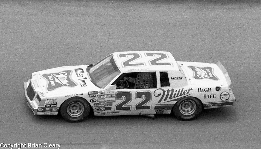 Bobby Allison 22 action Firecracker 400 at Daytona International Speedway in Daytona Beach, FL on July 4, 1983. (Photo by Brian Cleary/www.bcpix.com)