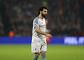 4th February 2019, London Stadium, London, England; EPL Premier League football, West Ham United versus Liverpool; Mohamed Salah of Liverpool reacts after his attempted shot for goal is saved by Goalkeeper Lukasz Fabianski of West Ham United