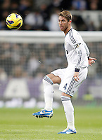 Real Madrid's Sergio Ramos during La Liga match. December 16, 2012. (ALTERPHOTOS/Alvaro Hernandez)