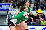 05.10.2019, Halle Berg Fidel, Muenster<br />Volleyball, Bundesliga Frauen, Normalrunde, USC MŸnster / Muenster vs. Allianz MTV Stuttgart<br /><br />Annahme Liza Kastrup (#5 Muenster)<br /><br />  Foto © nordphoto / Kurth