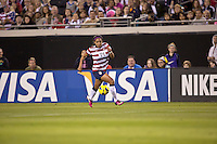 February 9, 2013:  USA Women's National Team forward Sydney Leroux (14) brings the ball up field during action between the USA Women's National Team and Scotland at EverBank Field in Jacksonville, Florida.  USA defeated Scotland 4-1............