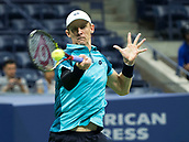 5th September 2017, Flushing Meadowns, New York, USA;  Kevin Anderson (RSA) in action during his quarter-final match at the US Open, played on September 5, 2017, at the USTA Billie Jean King National Tennis Center in Flushing Meadow