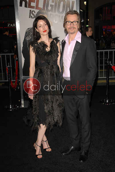 Gary Oldman and wife Alexandra Edenborough<br />