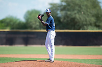 San Diego Padres relief pitcher Henry Henry (28) gets ready to deliver a pitch during an Instructional League game against the Milwaukee Brewers at Peoria Sports Complex on September 21, 2018 in Peoria, Arizona. (Zachary Lucy/Four Seam Images)