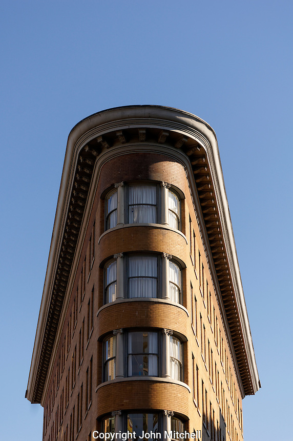 The Hotel Europa building in the historical Gastown district, Vancouver, British Columbia, Canada