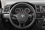 Car pictures of steering wheel view of a 2016 Volkswagen Multivan Comfortline BMT 5 Door Passenger Van Steering Wheel