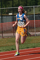 St. Vincent's Delia Lowman runs to an 11th place finish in the Class 2 Girls 400-meters in 1:02.40
