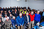 A full house for the Kerry IFA meeting held in the Cahersiveen Community Centre on Thursday last to discuss the outbreak of TB in the County, pictured front l-r; Kenneth O'Connell(KIFA Animal Health Rep.), Pat O'Driscoll(Kerry IFA County Chair), John McCormack(Veterinary inspector) & Tom Kennedy(Superintendent of Dept Agriculture).