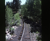 A view of the track behind the C&amp;TS daily excursion train from the rear platform.<br /> C&amp;TS