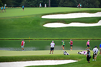 Gerina Piller (USA), Angela Stanford (USA), Hyo Joo Kim (KOR) prepare to putt on 6 during Thursday's first round of the 72nd U.S. Women's Open Championship, at Trump National Golf Club, Bedminster, New Jersey. 7/13/2017.<br /> Picture: Golffile | Ken Murray<br /> <br /> <br /> All photo usage must carry mandatory copyright credit (&copy; Golffile | Ken Murray)
