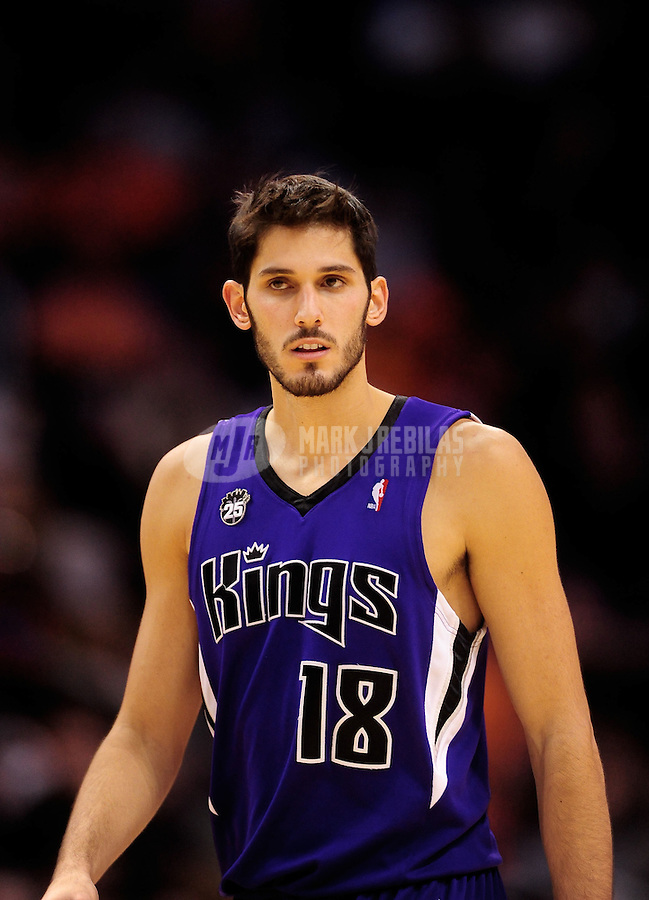 Dec. 5, 2009; Phoenix, AZ, USA; Sacramento Kings forward (18) Omri Casspi against the Phoenix Suns at the US Airways Center. The Suns defeated the Kings 115-107. Mandatory Credit: Mark J. Rebilas-
