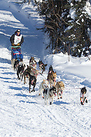 Ramey Smyth on Long Lake at the Re-Start of the 2012 Iditarod Sled Dog Race