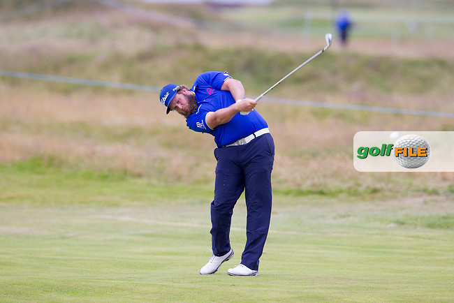 Andrew Johnston (ENG) on the 18th during round 2 of the Aberdeen Asset Management Scottish Open 2017, Dundonald Links, Troon, Ayrshire, Scotland. 14/07/2017.<br /> Picture Fran Caffrey / Golffile.ie<br /> <br /> All photo usage must carry mandatory copyright credit (&copy; Golffile | Fran Caffrey)