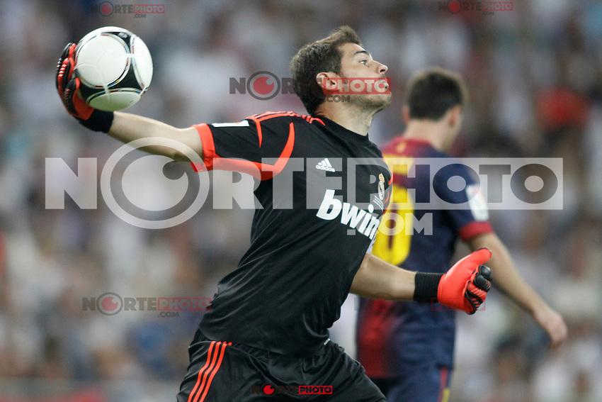 Real Madrid's  Iker Casillas during Super Copa of Spain on Agost 29th 2012...Photo:  (ALTERPHOTOS/Ricky) Super Cup match. August 29, 2012. <br />  (foto:ALTERPHOTOS/NortePhoto.com<br /> <br /> **CREDITO*OBLIGATORIO** <br /> *No*Venta*A*Terceros*<br /> *No*Sale*So*third*<br /> *** No*Se*Permite*Hacer*Archivo**<br /> *No*Sale*So*third*