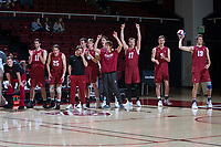STANFORD, CA - March 3, 2018: Team at Maples Pavilion. The Stanford Cardinal lost to Pepperdine, 3-0.