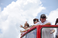 Miami Heat Owner, Micky Arison, and Pat Riley at Miami Heat NBA 2013 Championship parade, Biscayne Boulevard, American Airlines Arena, Miami, FL, June 24, 2013