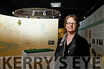 Curator of Kerry County Museum pictured at the Roger Casement exhibition which features the boat that Casement landed in Banna.