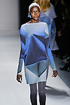 Ajak Deng walks the runway in a Nicole Miller Fall 2011 outfit, during Mercedes-Benz Fashion Week.