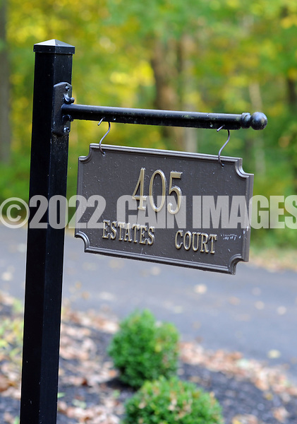 TOWNBY18P<br /> An address marker for a home at 405 Estates Court priced at $839,900 is seen Thursday October 8, 2015 in Wrightstown Pennsylvania. Wrightstown is a Bucks County community that is not as much of a destination as the towns around it. (William Thomas Cain/For The Inquirer)