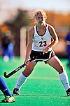 24 October 2008: University of Vermont Catamounts' defenseman Sarah Meacham, a Junior from North Hartland, VT, in action against the Hofstra University Pride at Moulton Winder Field, in Burlington, Vermont. The Catamounts shut out the visiting Pride 3-0...Mandatory Photo Credit: Ed Wolfstein Photo