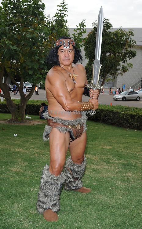 Conan the Barbarian Fan at Comic-Con 2014 in San Diego, Ca. July 26, 2014.
