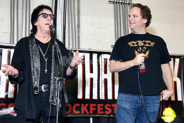 OAKS, PA - NOVEMBER 28 :  Special Guests Peter Criss of KISS and Host Eddie Trunk of VH-1 Classic's  That Metal Show pictured atThe All Things That Rock Fest at the Greater Philadelphia Expo Center in Oaks, Pa on November 28, 2014  photo credit  Star Shooter / NediaPunch