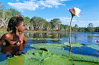 Sheila Pootchemunka, Winchanam Clan group, Aurukun Wetlands, Aurukun, Cape York Peninsula.