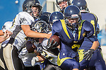 Santa Monica, CA 10/17/13 - Andrew Condon (Peninsula #45) in action during the Peninsula vs Santa Monica Junior Varsity football game at Santa Monica High School.