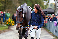 USA-Jennie Brannigan presents Stella Artois during the First Horse Inspection for the CCIO4*-L FEI Nations Cup Eventing. 2019 Military Boekelo-Enschede International Horse Trials. Wednesday 9 October. Copyright Photo: Libby Law Photography.