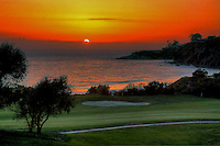 Pelican Hill Golf Course At Sunset