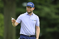 Branden Grace (RSA) sinks his putt on the 1st green during Sunday's Final Round of the WGC Bridgestone Invitational 2017 held at Firestone Country Club, Akron, USA. 6th August 2017.<br /> Picture: Eoin Clarke | Golffile<br /> <br /> <br /> All photos usage must carry mandatory copyright credit (&copy; Golffile | Eoin Clarke)
