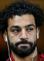 Mohamed Salah of Liverpool arrives ahead of the Premier League match between Swansea City and Liverpool at the Liberty Stadium, Swansea, Wales on 22 January 2018. Photo by Mark Hawkins / PRiME Media Images.