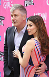 "Alec Baldwin and Hilaria Baldwin attending the Broadway Opening Night Performance of  ""Mean Girls"" at the August Wilson Theatre Theatre on April 8, 2018 in New York City."