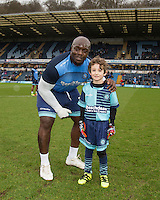 Match day  Mascots ahead of the Sky Bet League 2 match between Wycombe Wanderers and Crawley Town at Adams Park, High Wycombe, England on 25 February 2017. Photo by Andy Rowland / PRiME Media Images.