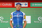 Matteo Trentin (ITA) Quick-Step Floors wins Stage 10 of the 2017 La Vuelta, running 164.8km from Caravaca A&ntilde;o Jubilar 2017 to ElPozo Alimentaci&oacute;n, Spain. 29th August 2017.<br /> Picture: Unipublic/&copy;photogomezsport | Cyclefile<br /> <br /> <br /> All photos usage must carry mandatory copyright credit (&copy; Cyclefile | Unipublic/&copy;photogomezsport)