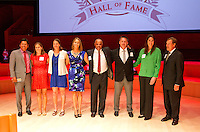 STANFORD, CA.,--OCTOBER 11, 2014---2014 The Class of 2014 for the Stanford Athletics Hall of Fame after the Induction Ceremony at the Stanford Bing Concert Hall on Stanford University Campus.
