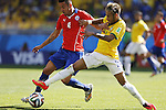 (L-R) Mauricio Isla (CHI), Neymar (BRA), JUNE 28, 2014 - Football / Soccer : FIFA World Cup Brazil 2014 round of 16 match between Brazil and Chile at the Mineirao Stadium in Belo Horizonte, Brazil. (Photo by AFLO)