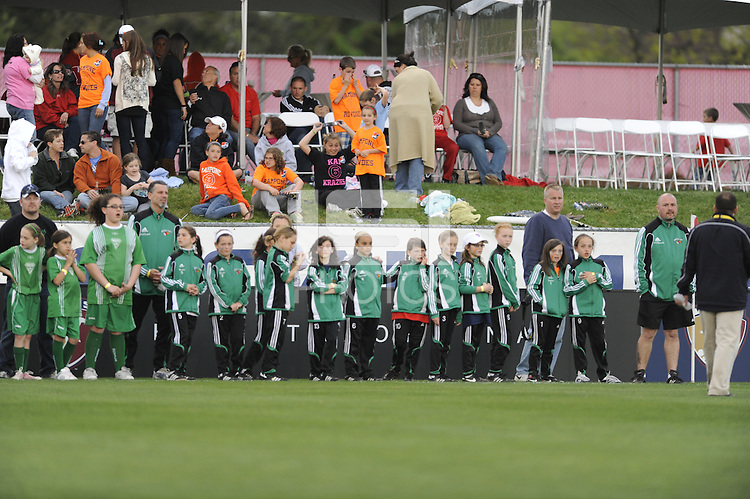 Parade of Champions. Sky Blue FC defeated the Chicago Red Stars 1-0 in a Women's Professional Soccer (WPS) match at Yurcak Field in Piscataway, NJ, on April 11, 2010.