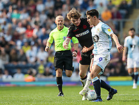 Bolton Wanderers' Luca Connell competing with Blackburn Rovers' Ben Brereton <br /> <br /> Photographer Andrew Kearns/CameraSport<br /> <br /> The EFL Sky Bet Championship - Blackburn Rovers v Bolton Wanderers - Monday 22nd April 2019 - Ewood Park - Blackburn<br /> <br /> World Copyright © 2019 CameraSport. All rights reserved. 43 Linden Ave. Countesthorpe. Leicester. England. LE8 5PG - Tel: +44 (0) 116 277 4147 - admin@camerasport.com - www.camerasport.com