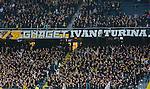 ***BETALBILD***  <br /> Solna 2015-05-10 Fotboll Allsvenskan AIK - IFK Norrk&ouml;ping :  <br /> AIK:s supportrar under matchen mellan AIK och IFK Norrk&ouml;ping <br /> (Foto: Kenta J&ouml;nsson) Nyckelord:  AIK Gnaget Friends Arena Allsvenskan IFK Norrk&ouml;ping portr&auml;tt portrait