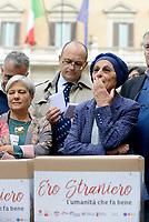 """Roma, 27 Ottobre 2017<br /> Emma Bonino.<br /> Piazza Montecitorio<br />  Conferenza stampa sulla consegna delle firme della campagna """"Ero Straniero"""" per una nuova legge sull'immigrazione"""