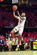 College Park, MD - NOV 21, 2017: Maryland Terrapins guard Kaila Charles (5) goes up for a lay up during game between the Howard Lady Bison and the Maryland Terrapins at the XFINITY Center in College Park, MD.  (Photo by Phil Peters/Media Images International)