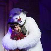 LONDON, ENGLAND - The Snowman at the Peacock Theatre, Birmingham Repertory Theatre Production, Brad Madison as The Snowman and Lewis Coppen as The Boy