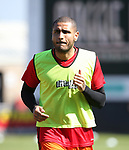 Sheffield United's Leon Clarke during the League One match at the Sixfields Stadium, Northampton. Picture date: April 8th, 2017. Pic David Klein/Sportimage