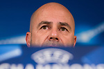 Borussia Dortmund coach Peter Bosz during press conference day before UEFA Champions League match between Real Madrid and Borussia Dortmund at Santiago Bernabeu Stadium in Madrid, Spain. December 05, 2017. (ALTERPHOTOS/Borja B.Hojas)