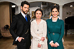 """Angel de Molina, Giulia Charm and Yara Puebla during the presentation of the new characters for the new season of the tv series """"El Secreto de Puente Viejo""""  in Madrid, February 10, Madrid. during the presentation of the new characters for the new season of the tv series """"El Secreto de Puente Viejo""""  in Madrid, February 10, Madrid."""
